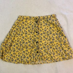 H&M Yellow Floral Skirt